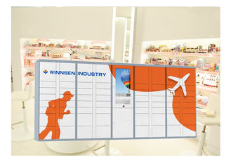 China Intelligent Parcel Delivery Lockers For E - Commerce / Online Purchase , 15 Inch Touch Screen factory