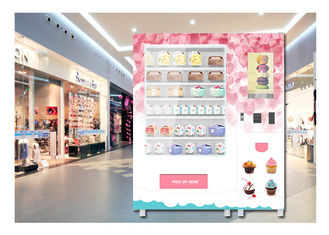 China Coin Operated Advertising Food Vending Machine , Cupcake Bread Snack Vending Machine factory
