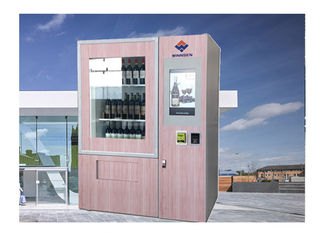 Multi Language Beer Alcohol Wine Vending Machine Champagne Bottle Vending Machine