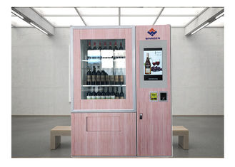 Remote Stock Monitor Wine Dispenser Beer Vending Machine With Advertising Function