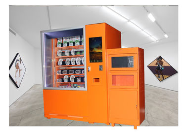 China 24 Hours Fast Food Vending Machine With Microwave Oven And Refrigerator factory