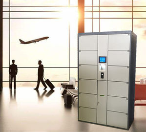 China 12 Door Airport Public Storage Locker For Luggage Deposit With Advertising Function factory