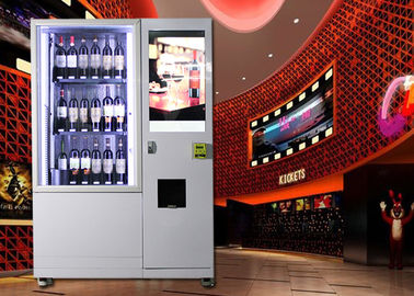 China Wine Glass Bottle Vending Machine With Elevator System , Juice Beer Vending Kiosk factory