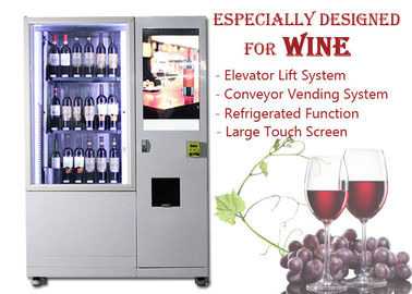 China Automatic Smart Multimedia Wine Vending Machine With Elevator System , Juice Beer Vending Kiosk factory