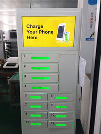 12 Doors Cell Phone Charging Vending Machine For Event With Advertising LCD Screen