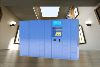 China Blue Color CE FCC Parcel Cabinet , Post Lockers Box With Remote Control factory