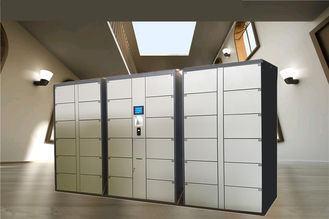 China 36 Doors Automatic Storage Luggage Lockers For Gym / Swimming Pool / Water Park with Steel Enclosure factory
