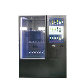 China Cash Operated Refrigerated Drink Beer Wine Milk Soda Juice Cheese Vending Machine with Large Screen and Remote Control factory