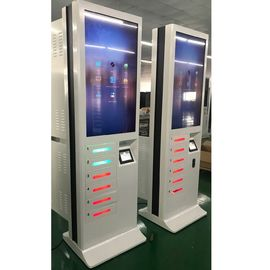 China 43 Inch Advertising Screen Fast Cell Phone Charging Stations With Credit Card Payment factory