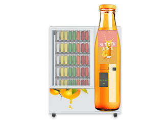 China OEM ODM Mini Mart Vending Machine Sandwich Salad Orange Apple Cranberry Fruit Fresh Juice Vending Machine With Elevator factory