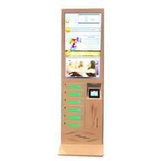 "Coin Operated Floor Stand Cell Phone Charging Machine Mobile Phone Charging Station with 43"" LCD screen"
