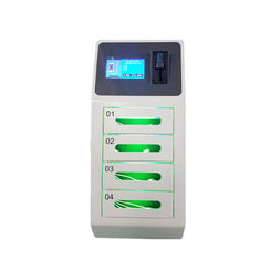 China 4 Door Secure Locker Cell Phone Charging Stations for Airport with Coin Acceptor and Credit Card Reader factory