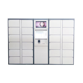 China LCD Touch Screen Electric Parcel Delivery Lockers Package Post Locker With Advertising Function factory
