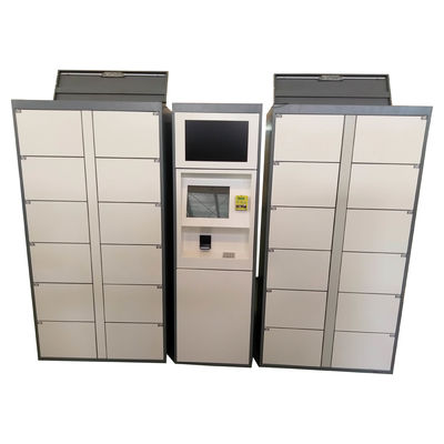 Stainless Steel Vending Locker With LED Lights And Transparent Doors Remote Control Function
