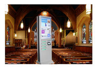 Network Multi Cell Phone Charging Station Kiosk With Big Advertising Screen