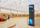 6 Lockers Advertising Cell Phone Charging Stations Kiosks Vending Machine for Airport Train Station supplier