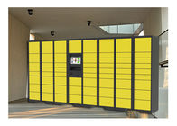 China Electronic Storage Luggage Lockers With Coin / Bill / Credit Card Payment Model company