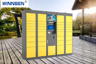 China Yellow Color Storage Parcel Delivery Lockers For Bus Station With Touch Screen factory