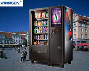 Cold Water Snack Food Vending Machines Kiosk With Coin Bill Credit Card Payment