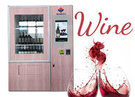 Bottle Drinks Wine Vending Machine , Fresh Salad Vending Machine With Remote Control System supplier