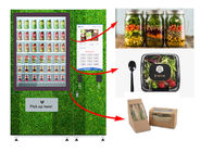 Touch Screen Refrigerated Salad Vending Machine , Healthy Food Vending Locker With Lift supplier