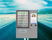 China Coin Bill Operated Refrigerated Soft Drink Milk Beer Biscuit Books Magazines Vending Machine with Touch Screen factory