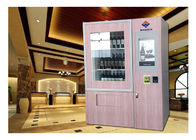 Automatic Smart Multimedia Wine Vending Machine With Elevator System , Juice Beer Vending Kiosk supplier