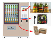 Automatic Self Service Fruit Vegetables Salad Vending Machine With Belt Conveyor Elevator supplier