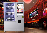Wine beer bottle combo Vending Machine with Network LCD Advertising Display supplier