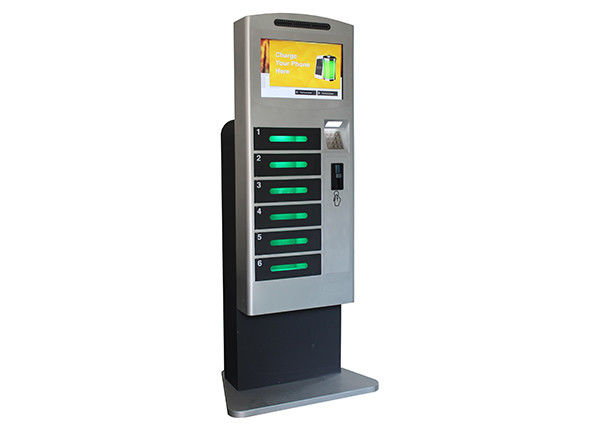 Restaurant / Airport / Shopping Mall Secured Locker Charging Stations for Cell Phones