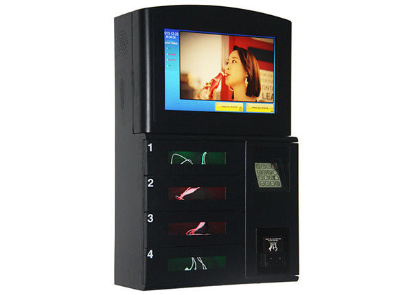 Wall Mount Coin Bill Card Operated Cell Phone Station , Secured Lockers Phone Charging Station Kiosk supplier