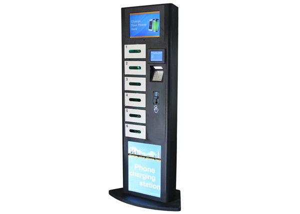 LCD Advertising Cell Phone Charging Station , Charging Stations for Electronics Phone