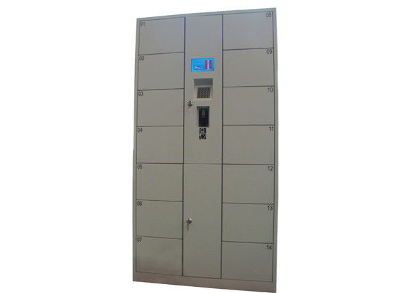 school gym doors. Electronic Coins Banknotes Luggage Lockers , 14 Doors Metal School For Park / Gym Library I