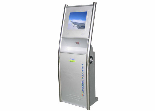 Barcode Scanner LCD Digital Signage , Library Self Service Interactive Touchscreen Solutions