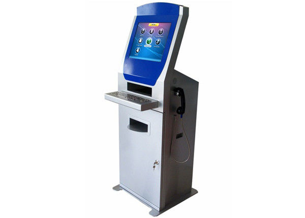 Interactive Information Printing Display Kiosk Machines , Document Scanner Digital Kiosk Solutions supplier