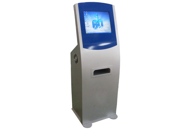 Multimedia Smart Touch Screen Self Service Kiosks with A4 Size Paper Laser Printer supplier
