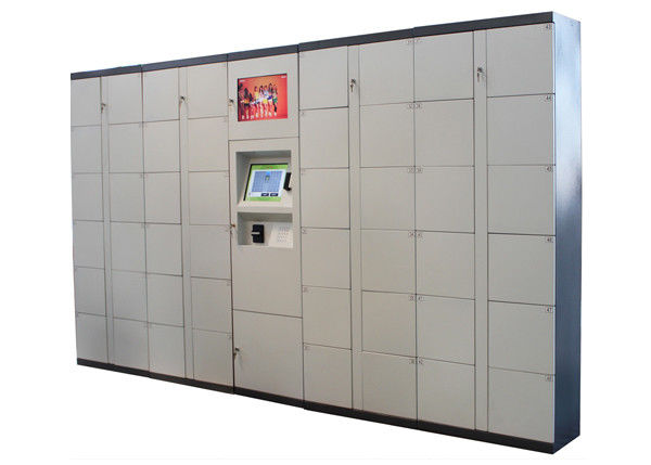 Supermarket Barcode RFID Twist Smart Digital Electronic Metal Storage Lockers 100 - 240V supplier