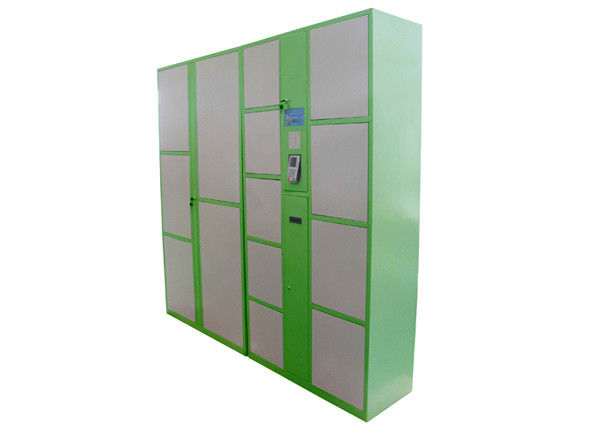 Airport Intelligent Storage Electronic Luggage Lockers with Automated Printer Barcode Operated