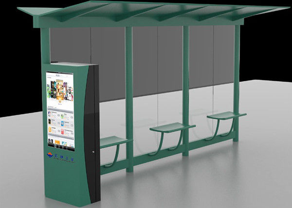 Auto Lcd Outdoor Digital Signage Digital Bus Stop