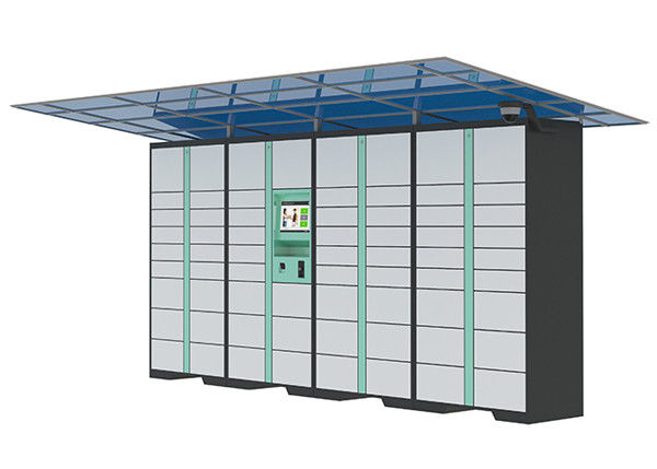 LCD Display Parcel Delivery Lockers , 3G / 4G / GPRS Remote Control Home Parcel Locker System supplier