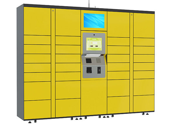 15 inch Touch Screen Parcel Delivery Lockers , Computer System Parcel Locker Service supplier