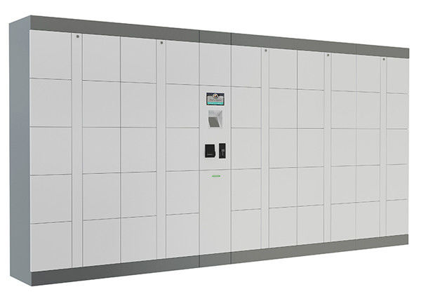 Intelligent Parcel Delivery Lockers with Industrial PC , SMS Input Password Click and Collect Lockers supplier