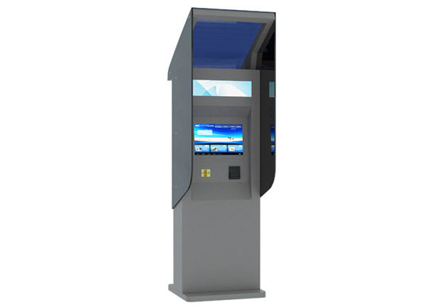 High Brightness Touch Screen Waterproof Kiosk with Banknote / Card Reader 24 Hours Outdoor supplier