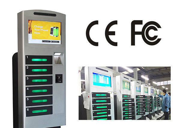 Free Standing Cell Phone Charging Station With 6 Safe E - Lock Charging Box supplier