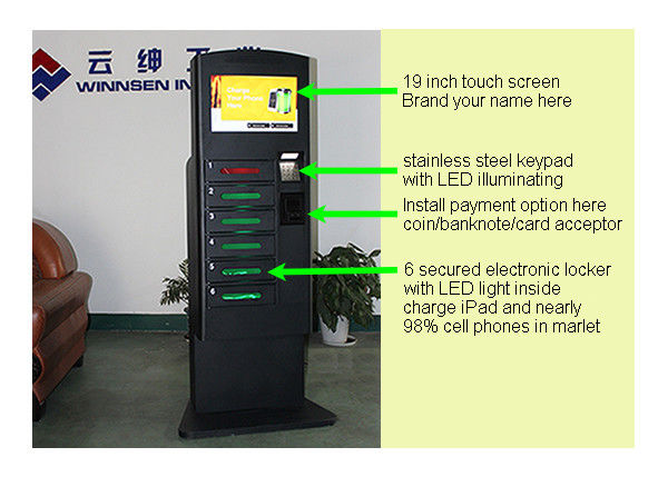 Customized Cell Phone Charging Station With Metal Keypad And LED supplier