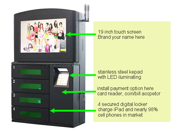 Airport Hospital College Cell Charging Kiosk Wall Mount Phone Station High Durability For Public
