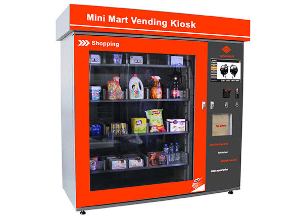 Touch Screen Mini Mart Vending Machine Business Station Automated Retail Coin / Bill / Card Operated supplier