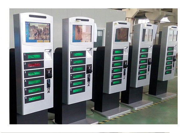 Free Standing Cell Phone Charging Kiosk Lockers With