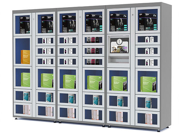 24 Hours Electronic Touch Screen Vending Lockers with Coin / Banknote / Card Payment supplier