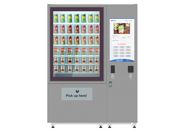 32 Inch Advertising LCD Screen Fresh Salad Vending Machines With Elevator System